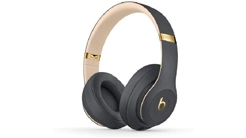 Gold wireless Beats headphones